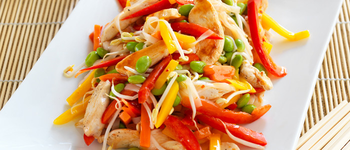 Oriental Chicken and Vegetable Salad