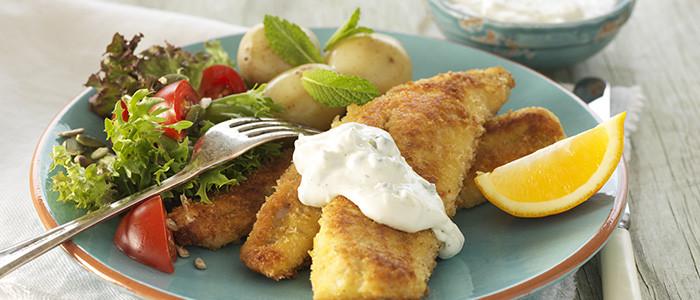 Pan-Fried Crumbed Fish