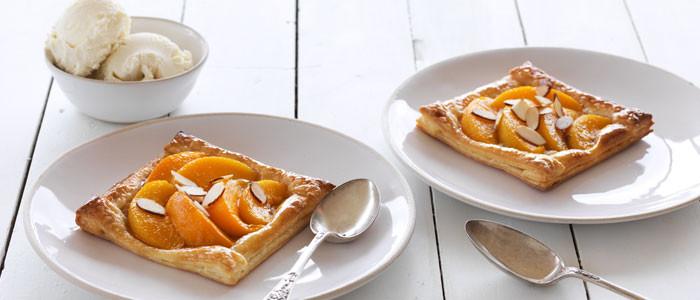 Peach, Almond & Maple Tarts
