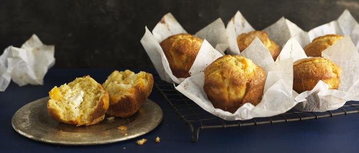 Peach and Cream Cheese Muffins