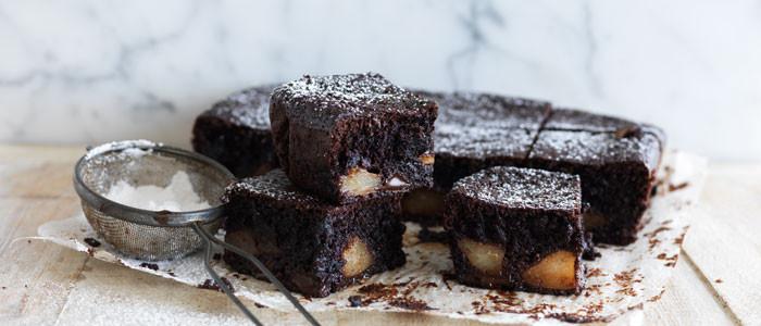 Pear & Almond Chocolate Brownie