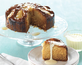 Pear and Ginger Cake with a Maple Glaze