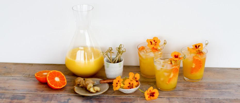 Pear and Ginger Kombucha Mocktail