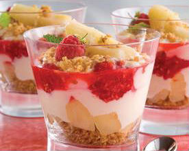 Pear and Raspberry Summer Crumble