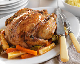 Pot Roasted Apricot Chicken
