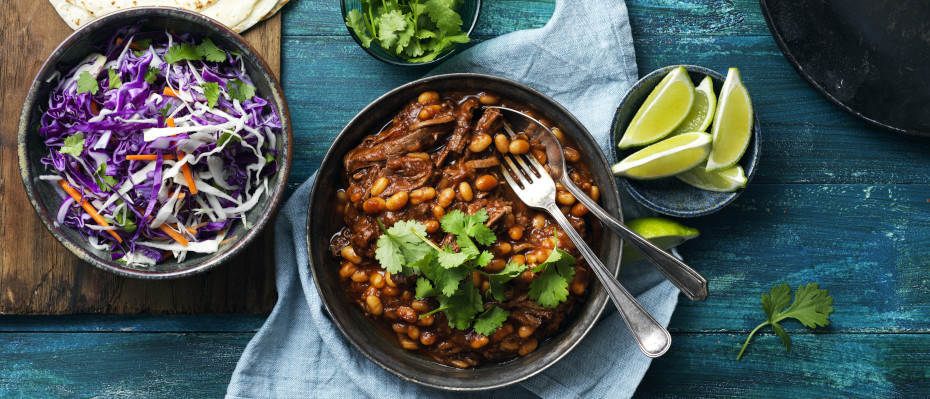 Pulled Brisket with Chipotle and Beans