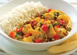 Pumpkin, Potato and Lentil Curry