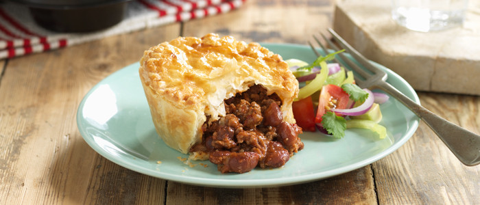 Quick Chilli Mince and Bean Pies