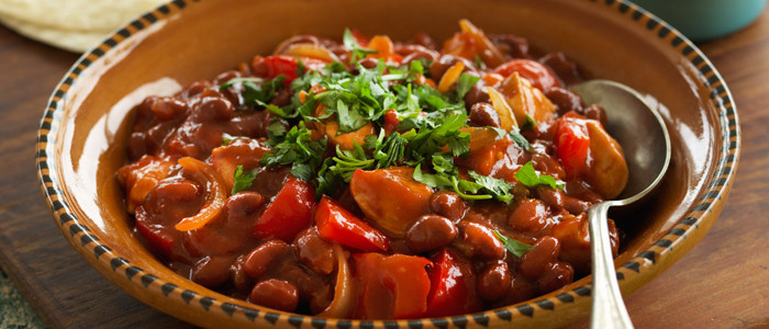Quick Mexican Chicken and Beans