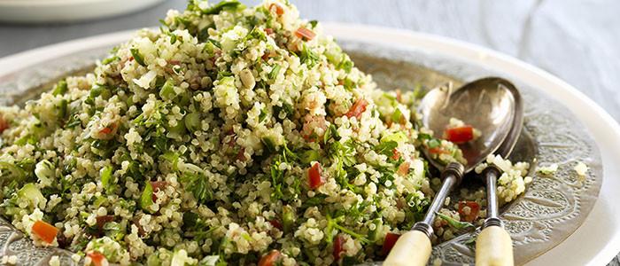 Quinoa and Basil Pesto Tabbouleh