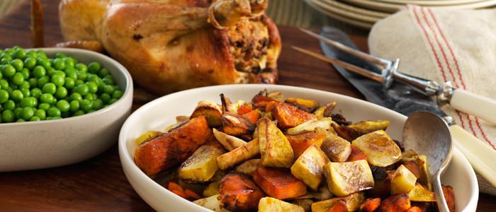 Roast Chicken with Maple Balsamic Glazed Vegetables