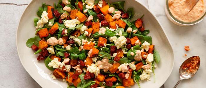 Roast Pumpkin & Sundried Tomato Salad