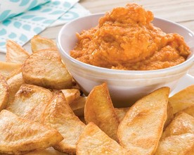Roasted Capsicum and Chickpea Dip with Crispy Skins