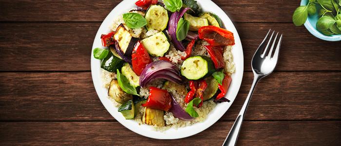 Roasted Summer Vegetables & Quinoa Salad