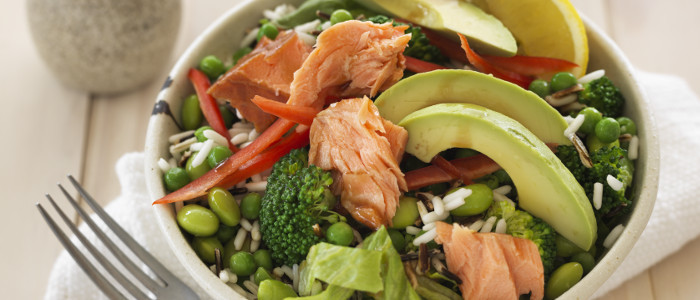 Salmon, Veg & Wild Rice Salad Bowl