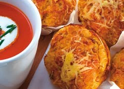Savoury Corn and Cottage Cheese Muffins