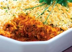 Savoury Mince and Cheesy Spaghetti Bake