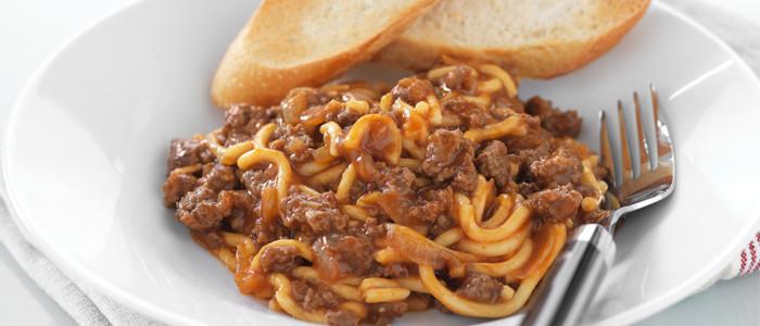 Savoury Mince and Spaghetti