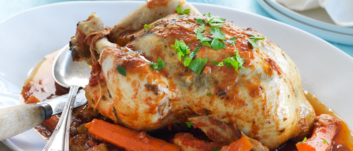 Slow Cooked Whole Chicken