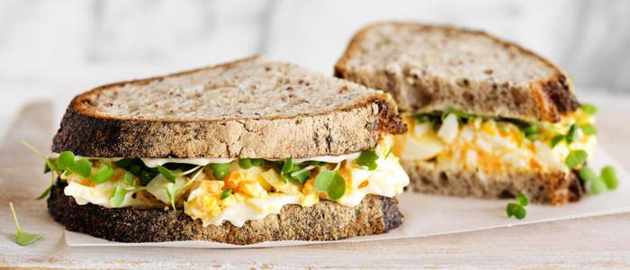 Smashed Egg Sandwiches