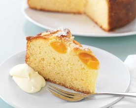 Sour Cream and Apricot Syrup Cake