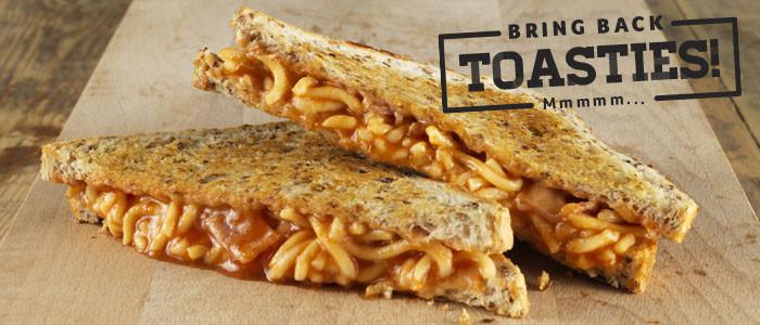 Spaghetti, Bacon and Cheese Toastie