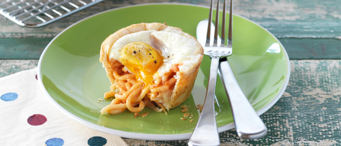 Spaghetti and Egg Pies