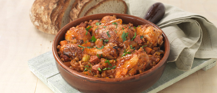 Spanish Chicken with Lentils