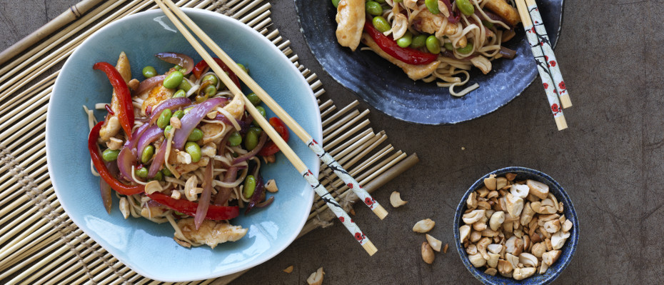 Sweet Chilli Chicken, Edamame and Noodle Stir-Fry