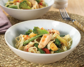 Sweet Chilli Chicken with Sesame Noodles