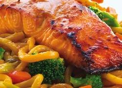 Teriyaki Salmon and Udon Noodles