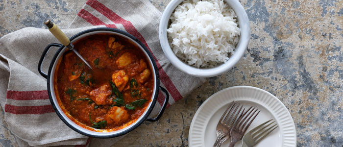 Tomato, Chicken and Spinach Curry