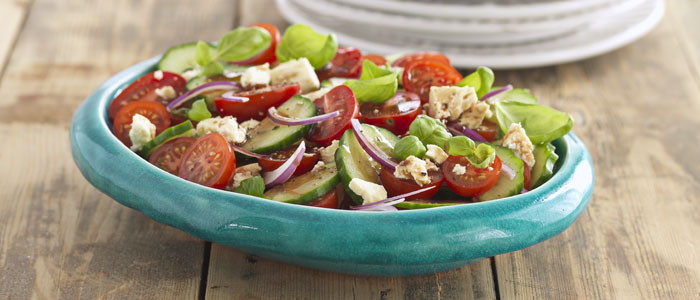 Tomato Cucumber and Red Onion Salad