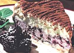 Vanilla and Boysenberry Ice Cream Cake
