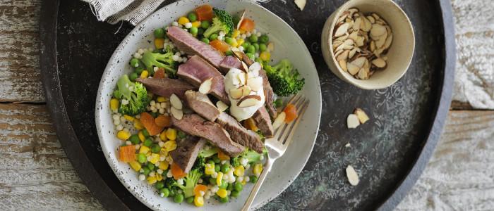 Warm Moroccan Lamb & Couscous Salad