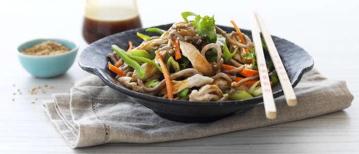 Warm Teriyaki Chicken and Soba Noodle Salad