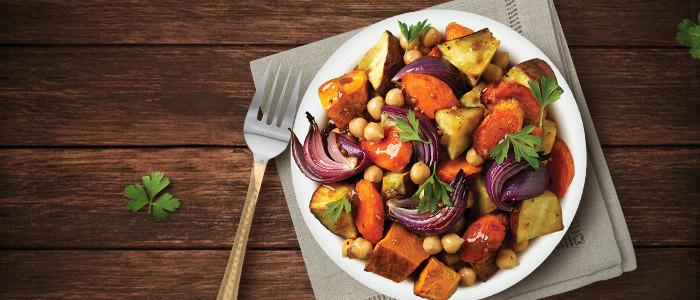 Winter Roasted Vegetable & Chickpea Salad