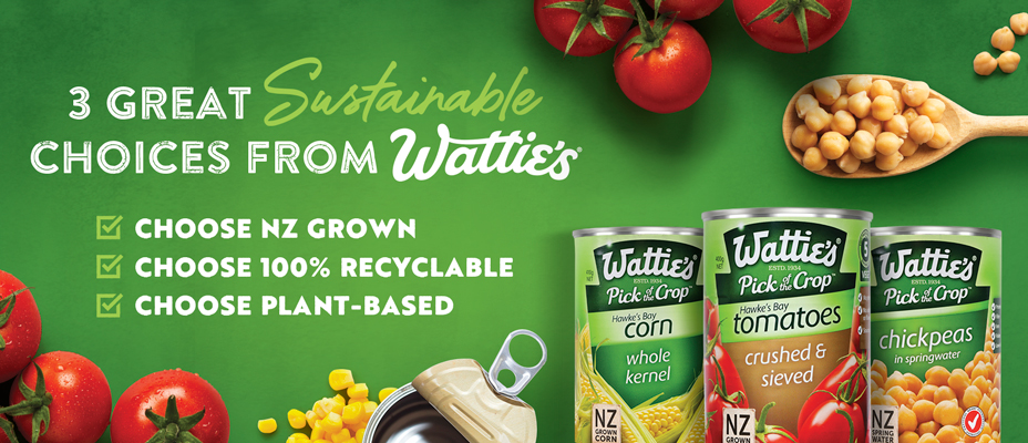 3 Great Sustainable Choices from Wattie's