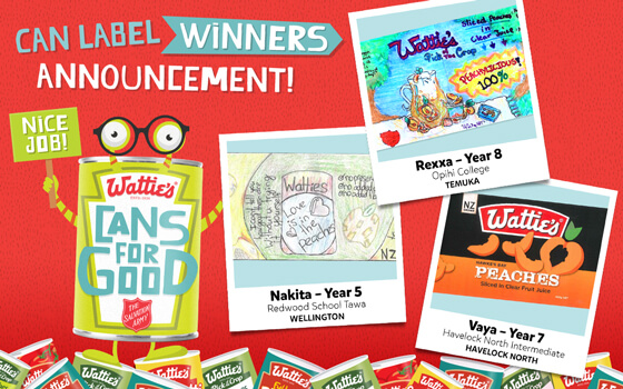 Can Label Winners Announcement!