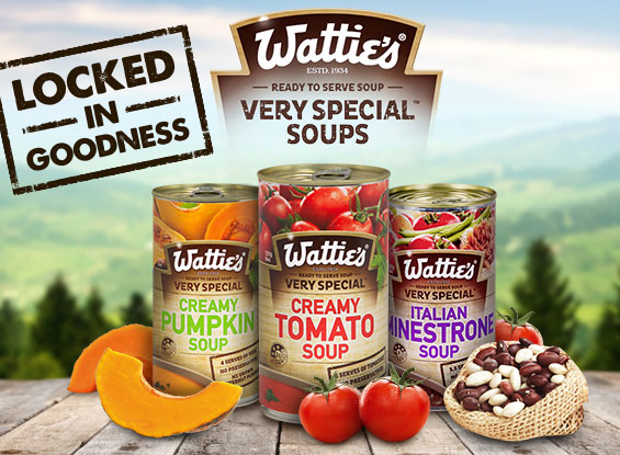 Wattie's Very Special Soups - Locked in Goodness
