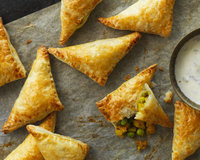 Curried Pea and Potato Samosas
