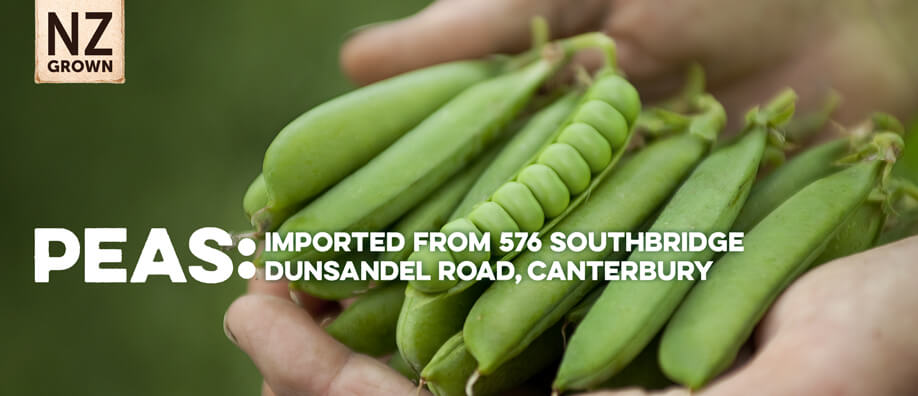 Peas: Imported From 576 Southbridge Dunsandel Rd, Canterbury