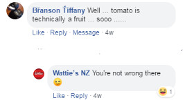 Tomato Sauce and Ice-Cream Comment 2
