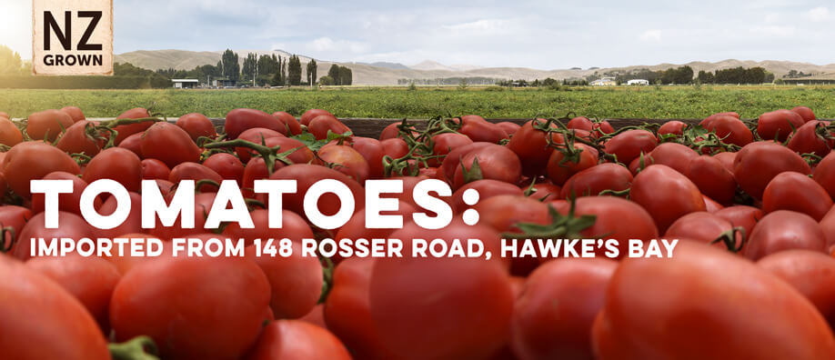 Tomatoes: 148 Rosser Road, Hawke's Bay