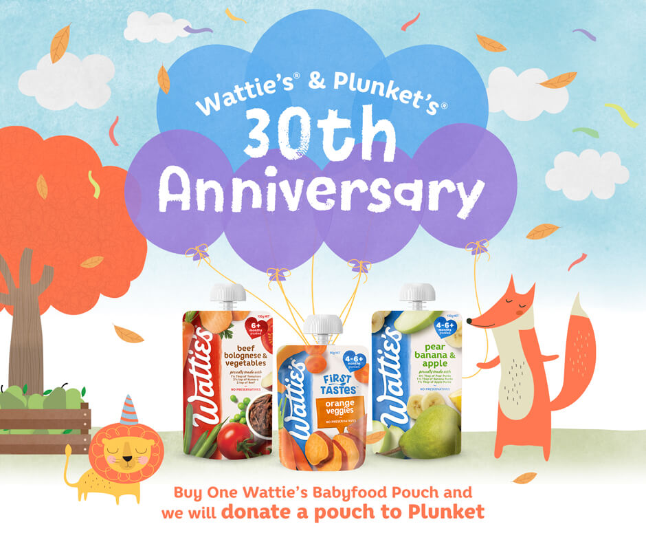 Wattie's and Plunket's 30th Anniversary