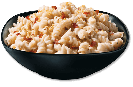 creamy-alfredo-mac-and-cheese-with-bacon plate image