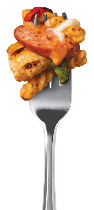 cajun-style-alfredo-with-sausage-and-chicken fork image