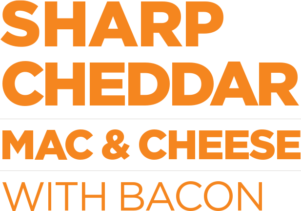 Sharp Cheddar Mac & Cheese with Bacon