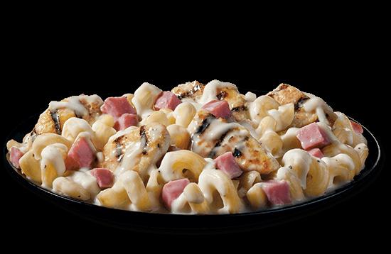 chicken-cordon-bleu-mac-cheese plate image
