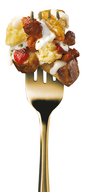 all-day-breakfast-spicy-queso-hash-dinner fork image
